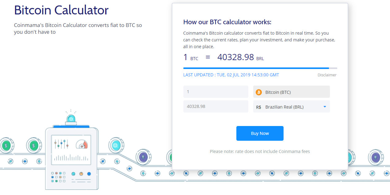 Coinmama Bitcoin Price Calculator