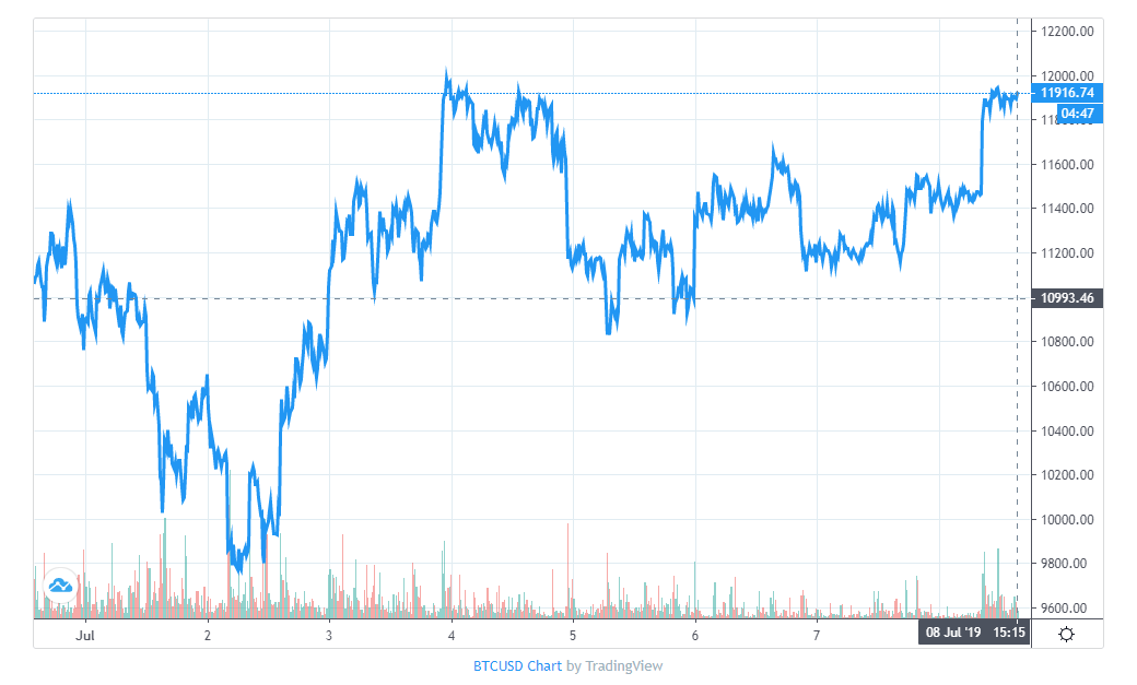 Bitcoin Price Week 1 July 2019