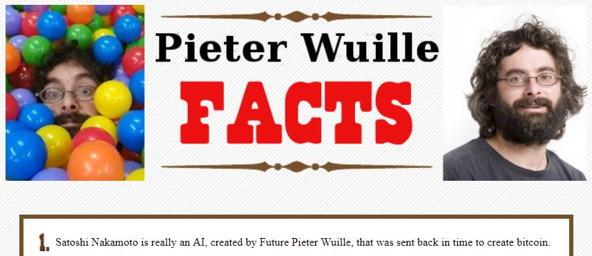 Pieter Wuille Fun Fact