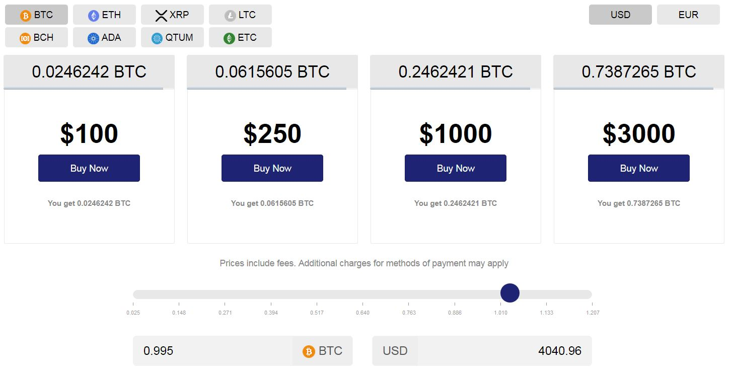 Purchasing a Preset Amount below 1 BTC