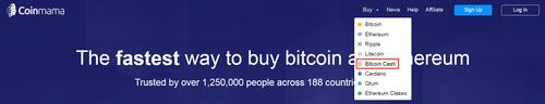 Buy Bitcoin Cash on Coinmama